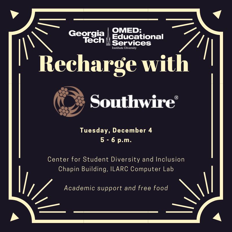 recharge with southwire free food chapin december 4 5-6pm